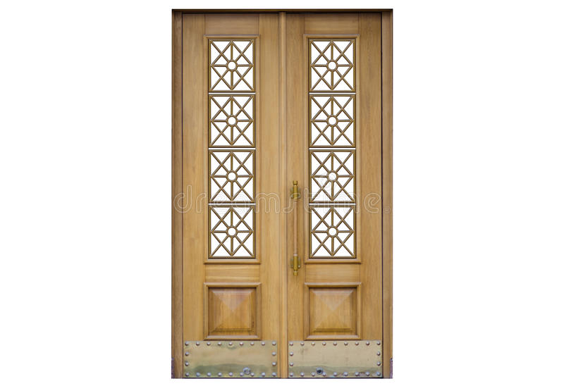 Door on a white background stock images