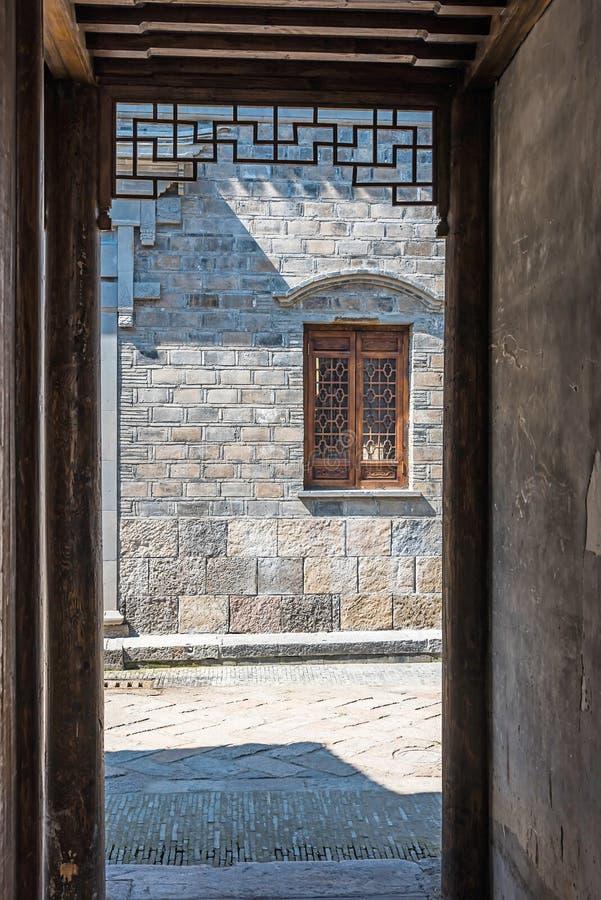 Door and window. This photo was taken in laomendong scenic spot, Nanjing city, Jiangsu province, china royalty free stock image