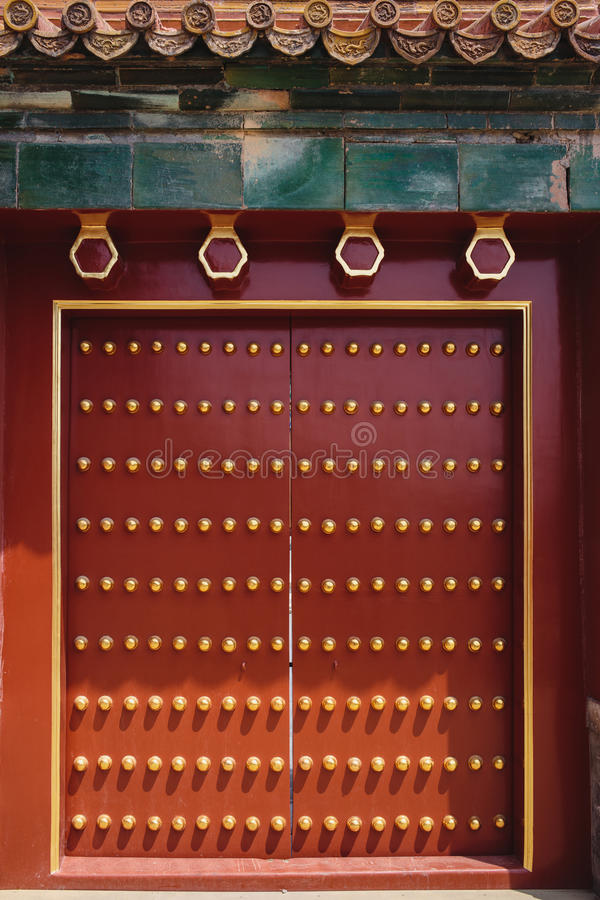 The door and windows, made in traditional chinese style stock photo
