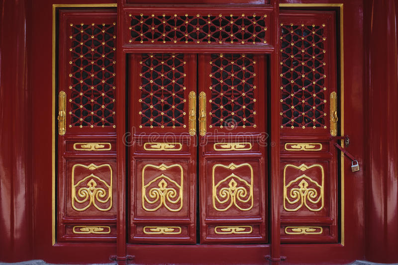 The door and windows, made in traditional chinese style royalty free stock photo