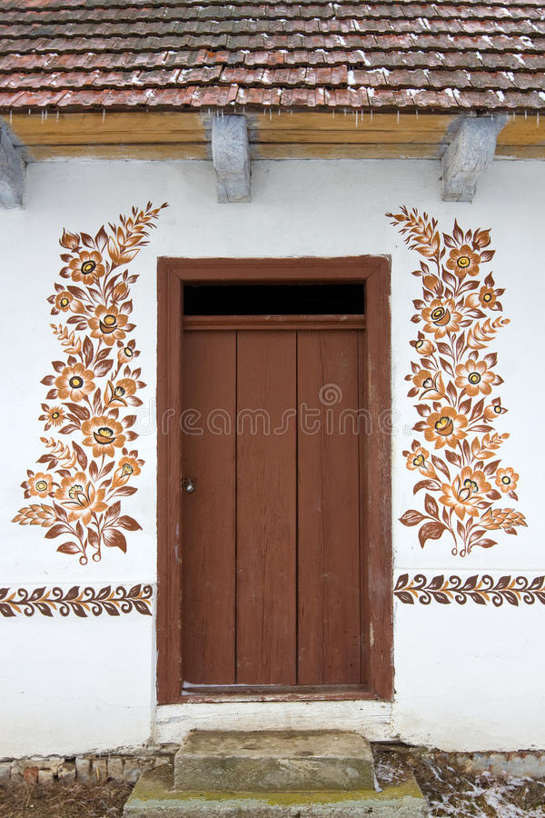 Free Door With A Folk Decoration Stock Images - 25688154