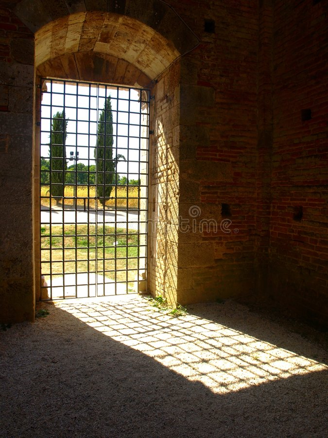 Free Door With Gate Stock Photography - 6023142