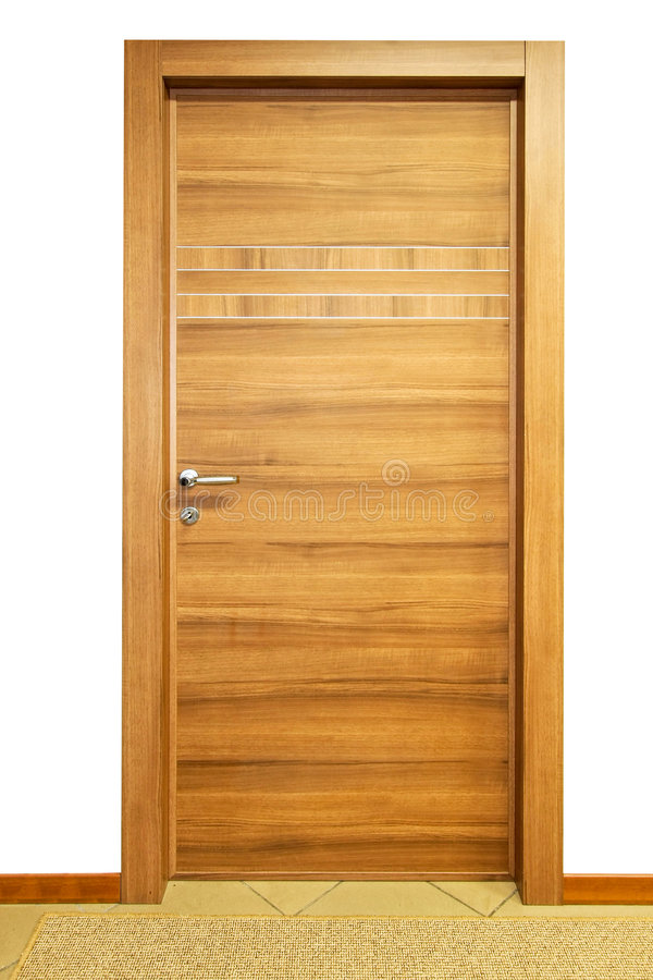 Door wood stock image