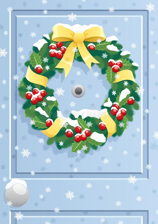 Free Door Wreath Royalty Free Stock Image - 15907326