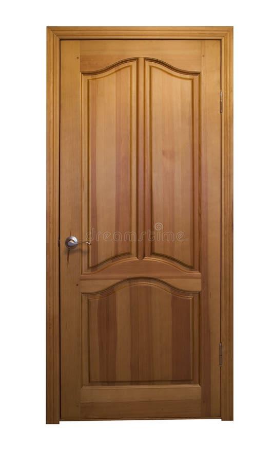 Door1 de madera cerrado foto de archivo libre de regalías
