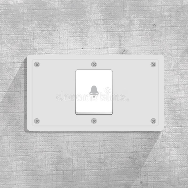 Doorbell στο γκρίζο υπόβαθρο για το γραφικό σχέδιο ελεύθερη απεικόνιση δικαιώματος