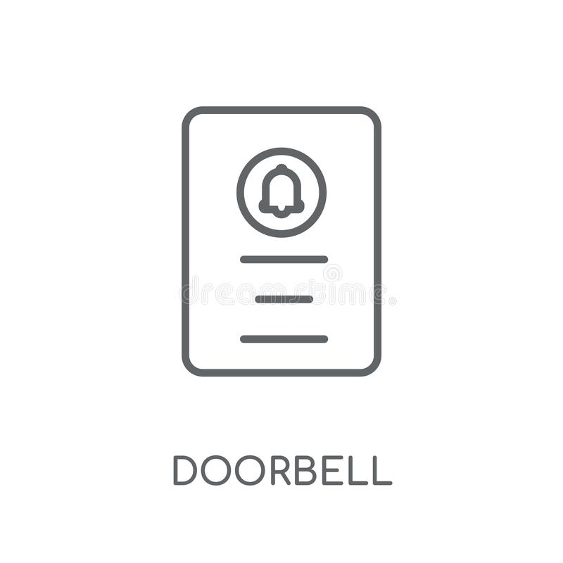 Doorbell linear icon. Modern outline Doorbell logo concept on wh vector illustration