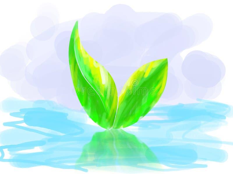Doorbladert hierboven - water royalty-vrije illustratie