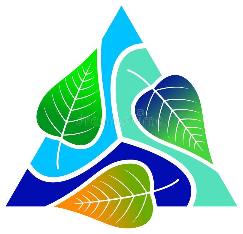 Doorbladert met driehoek stock illustratie