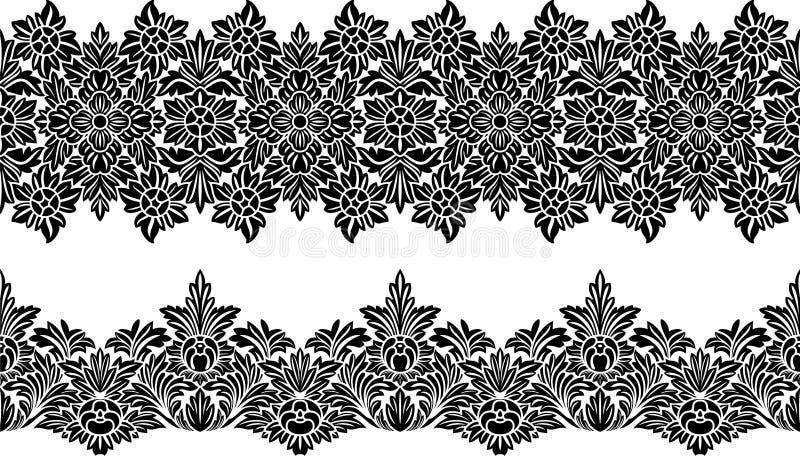 Doorboor bloemengrens vector illustratie