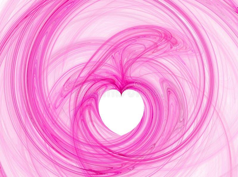 Doorboor hartillustratie vector illustratie