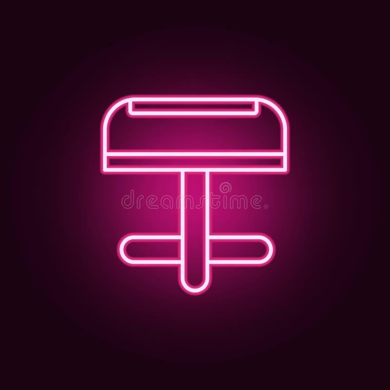 doordringend neonpictogram Elementen van juwelenreeks Eenvoudig pictogram voor websites, Webontwerp, mobiele toepassing, informat royalty-vrije illustratie