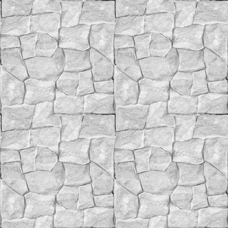 Doordruksteenwand - Schone witte metselaar - naadloze achtergrond royalty-vrije stock afbeeldingen