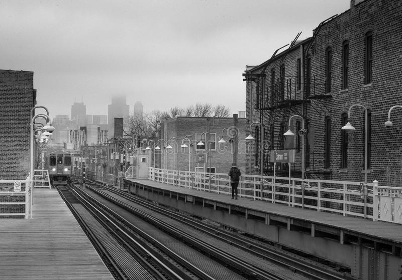 Doorgang in Chicago stock fotografie