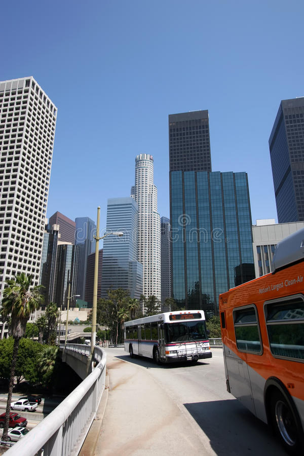 Doorgang de Van de binnenstad van de Massa van Los Angeles stock afbeeldingen