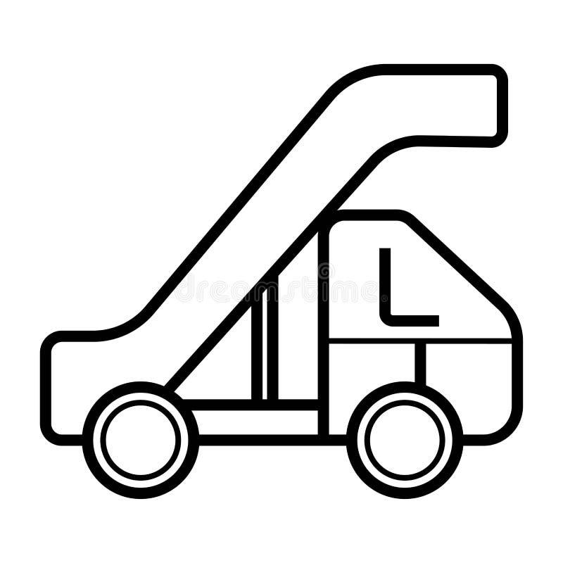 Doorgang van het pictogram van de vliegtuiglijn stock illustratie