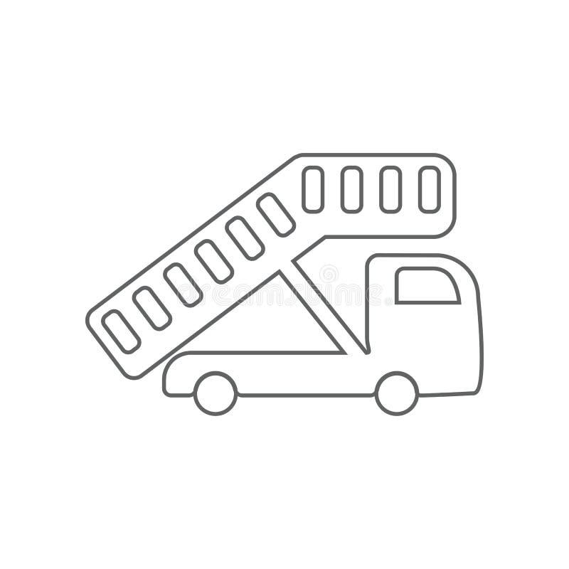 Doorgang van het pictogram van de vliegtuigloopplank Element van Luchthaven voor mobiel concept en webtoepassingenpictogram Overz vector illustratie