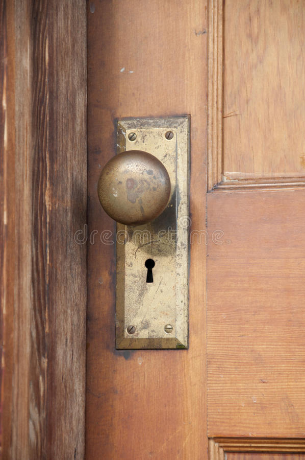Doorknob adiantado dos 1900s foto de stock