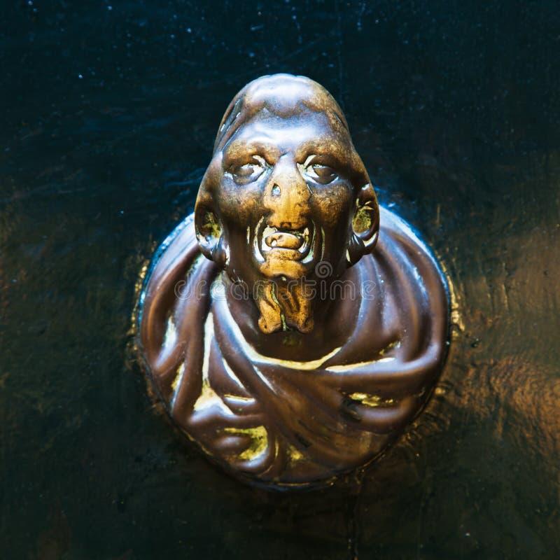 Doorknob de bronze imagens de stock