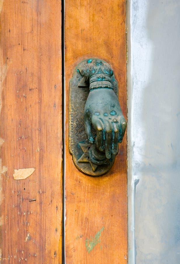 Doorknob de bronze do vintage foto de stock royalty free