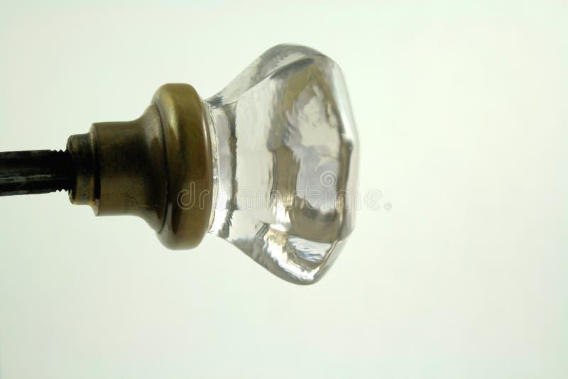 Doorknob de vidro fotografia de stock royalty free