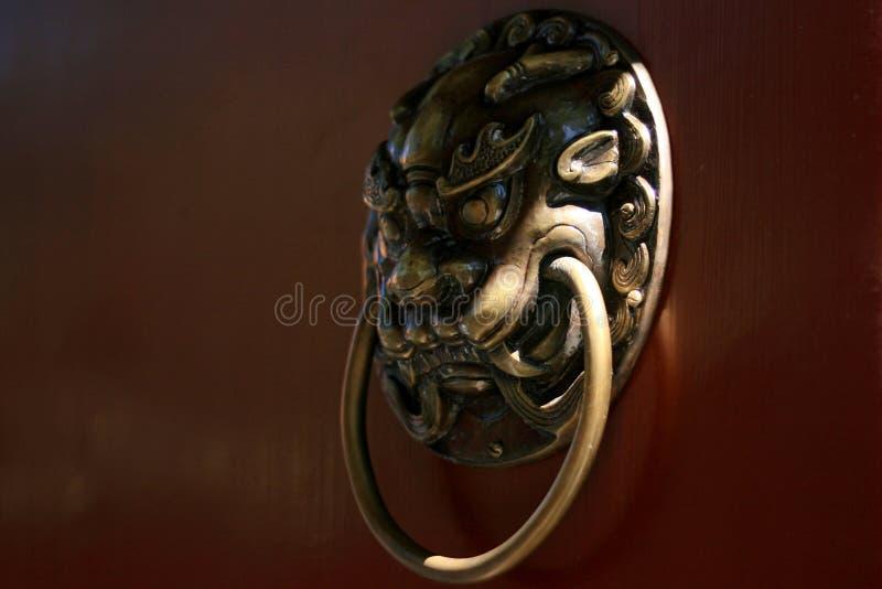 Doorknob do estilo chinês imagem de stock royalty free