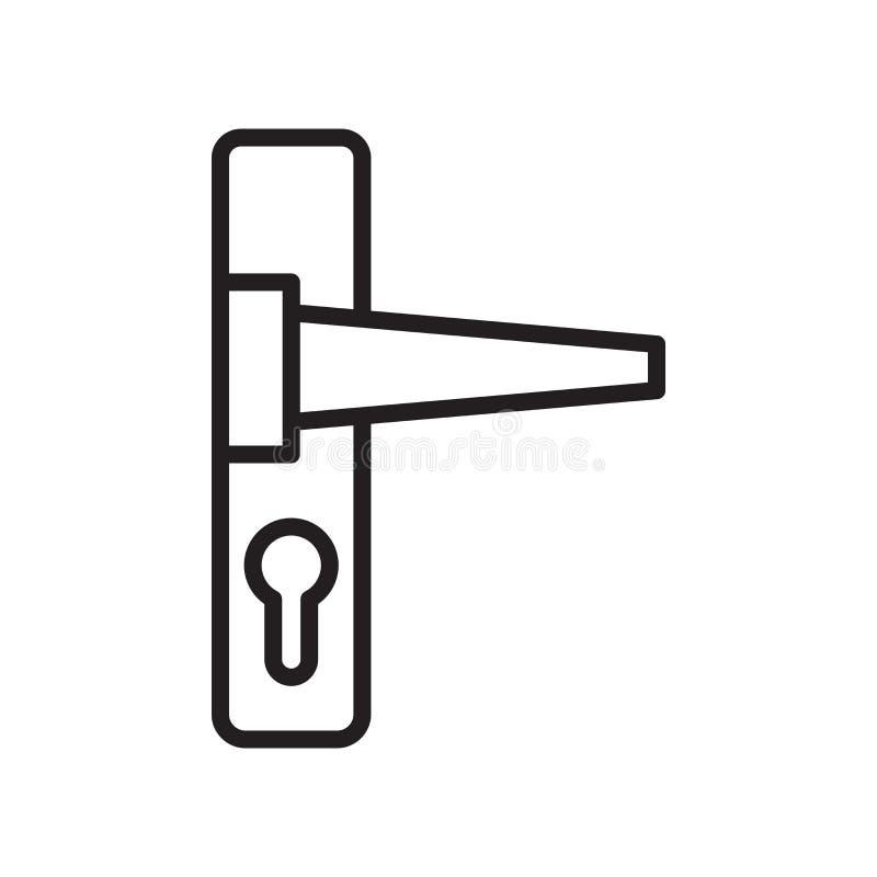 Doorknob ikony wektoru znak i symbol odizolowywający na białym backgroun royalty ilustracja
