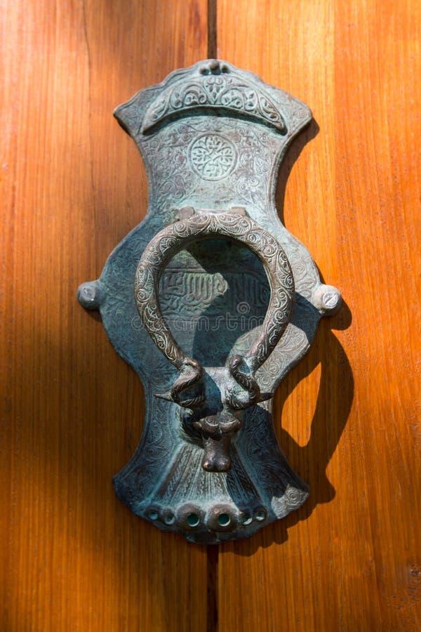 Doorknob oriental do estilo oriental imagem de stock
