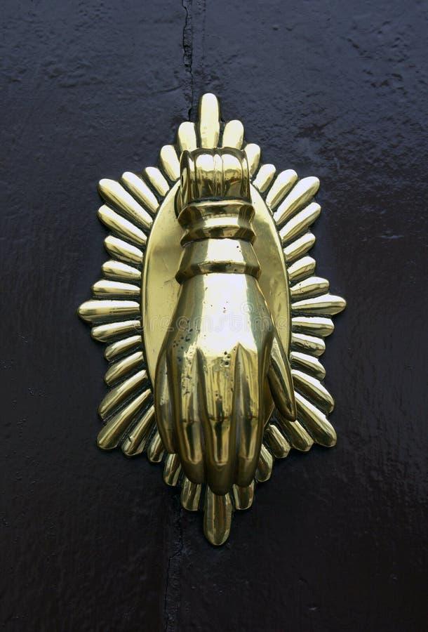 Doorknob ou aldrava do metal imagens de stock