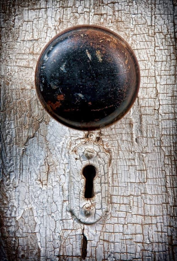 Doorknob rústico do vintage imagens de stock royalty free