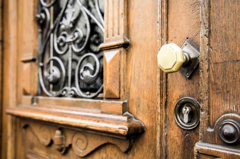Doorknob velho imagens de stock