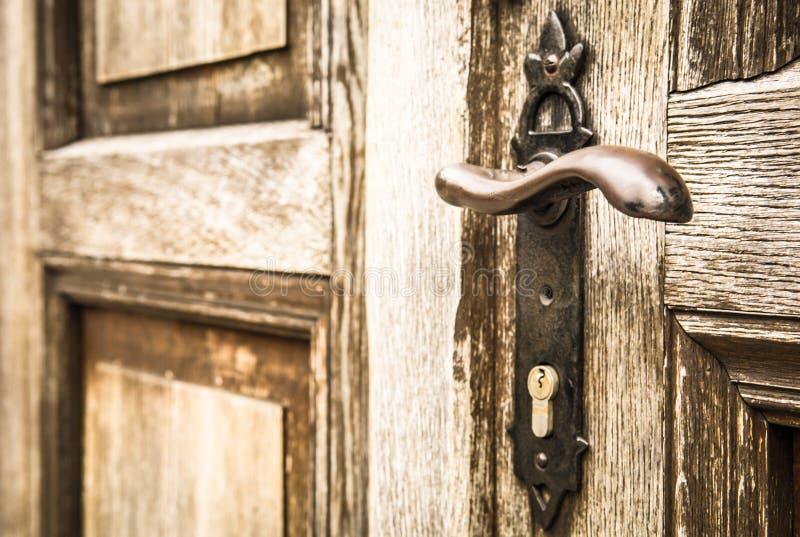 Doorknob velho fotografia de stock
