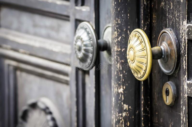 Doorknob velho foto de stock