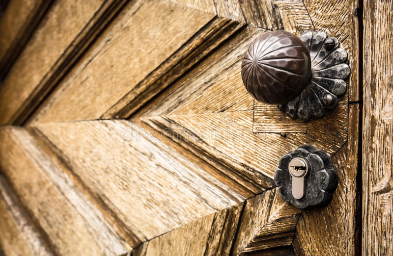 Doorknob velho imagens de stock royalty free