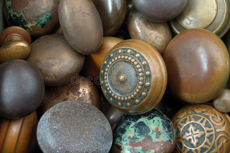 Doorknobs de Vinatage imagem de stock royalty free