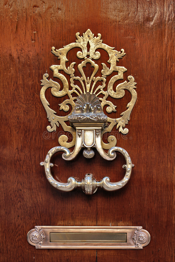 Doorknocker foto de stock