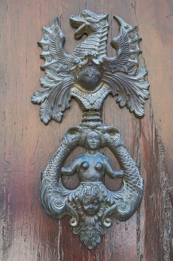 Doorknocker. Amelia. Umbria. Italy. royalty free stock photography