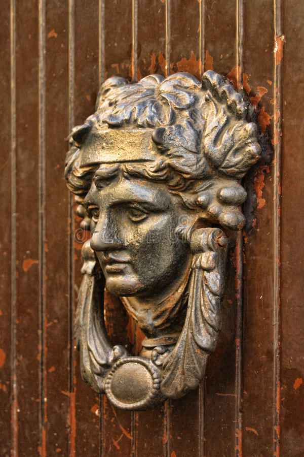 Doorknocker in Italien royalty free stock photo