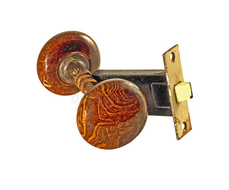 Doorkobs utilisé par vintage photographie stock