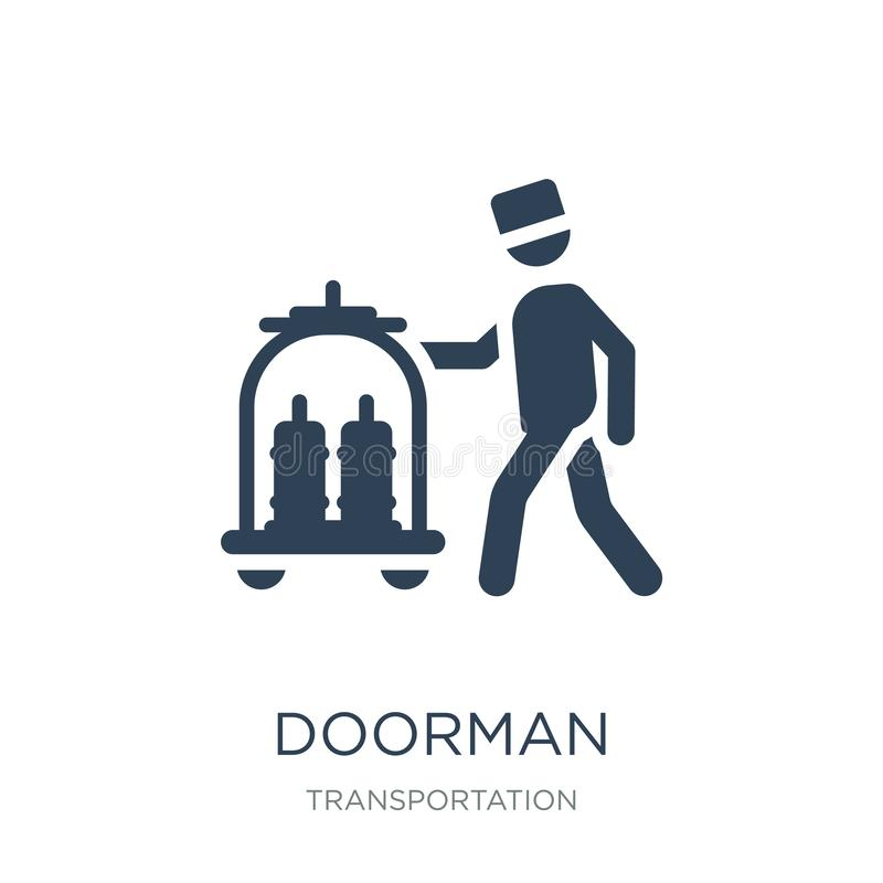 doorman icon in trendy design style. doorman icon isolated on white background. doorman vector icon simple and modern flat symbol vector illustration