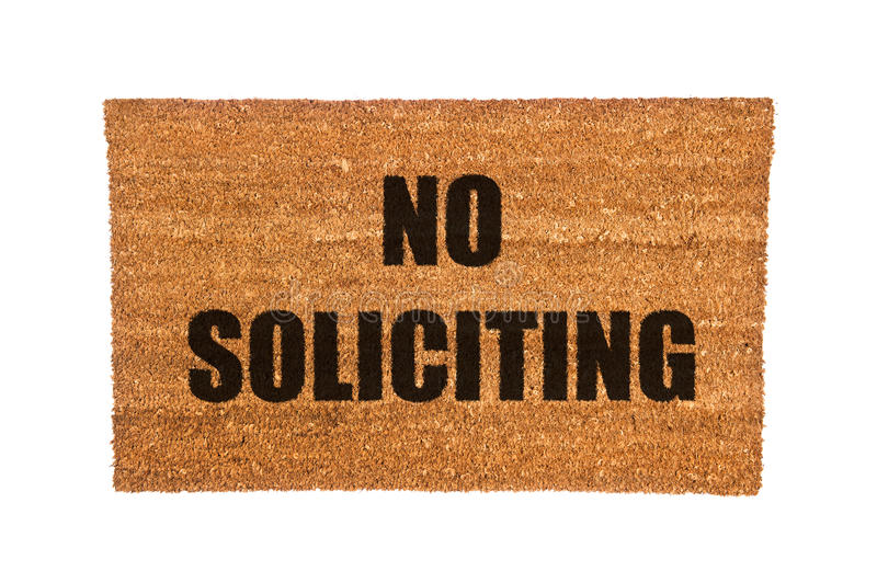 Marvelous Doormat With No Soliciting Text