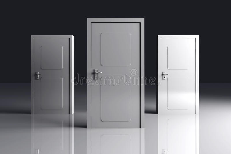 Download Doors stock illustration. Illustration of guess, chance - 11651863