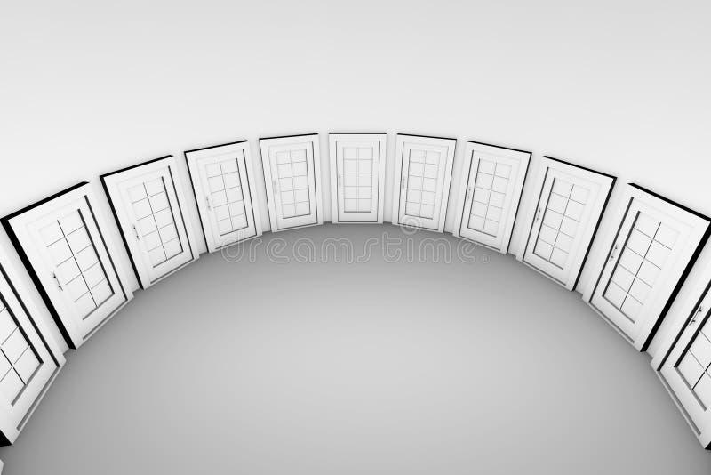 Doors stock illustration