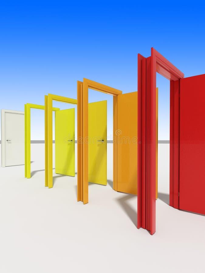 Download Doors stock photo. Image of doors, white, symbol, yellow - 3790600