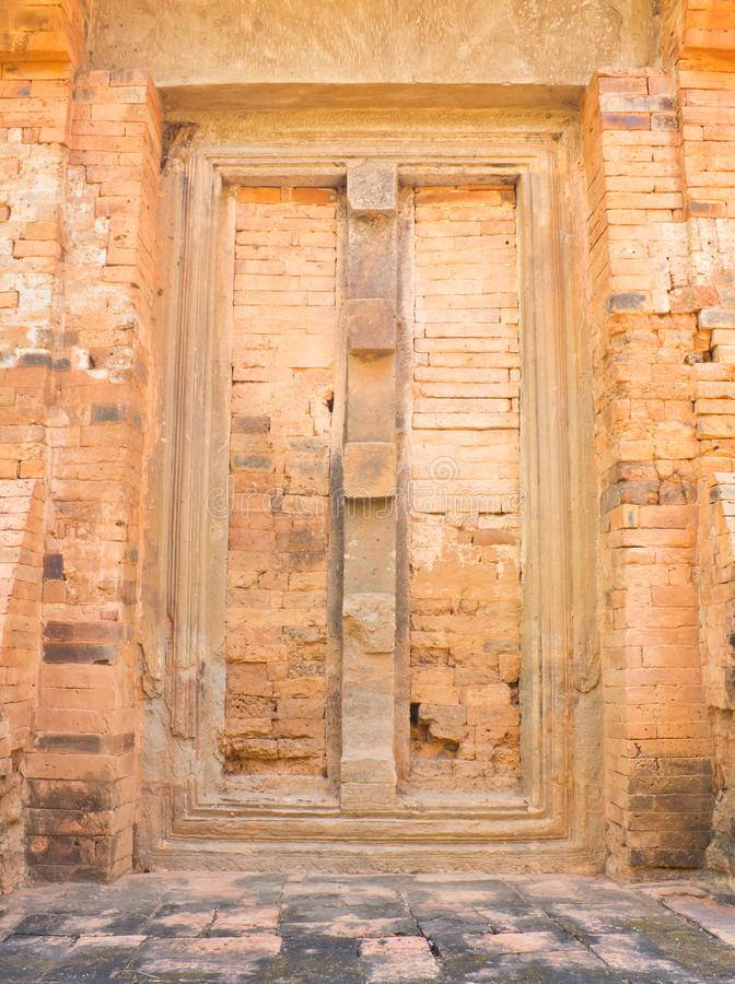 Doors catchy. Deceptive door was built at Castle Ku Suan Taeng in Buriram Province of Thailand stock image