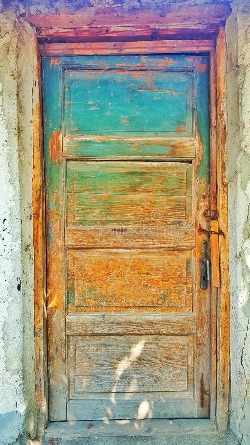 Doors colours stock image