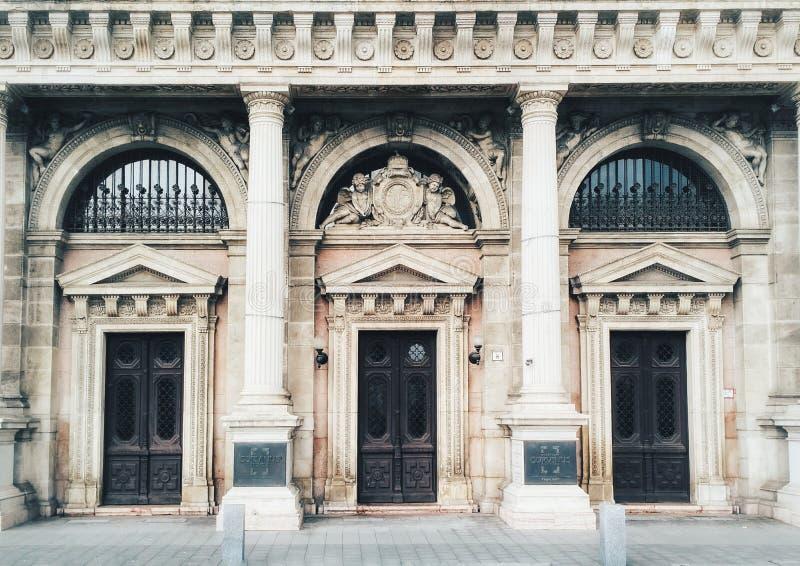 Doors of Corvinus university in Budapest, Hungary. Doors of Corvinus university in Budapest, Hungary royalty free stock photography