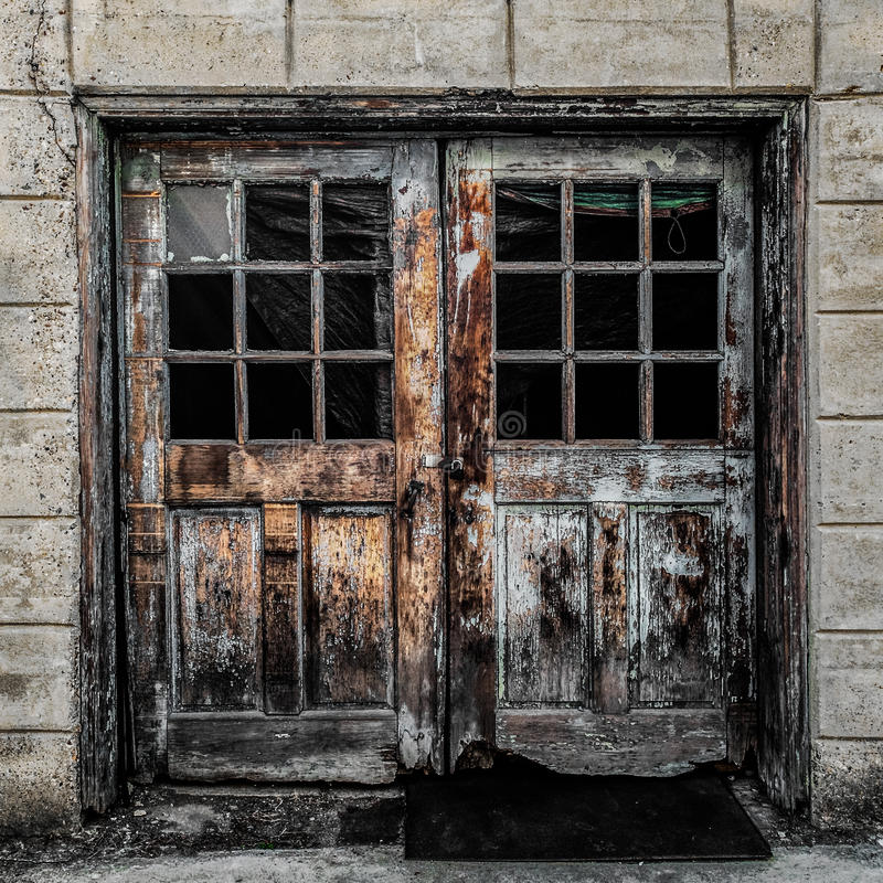 Colorful Doors in Decay royalty free stock images