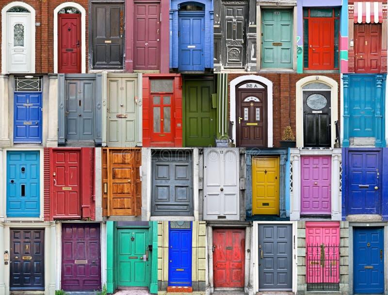 Doors of Dublin, Ireland stock images