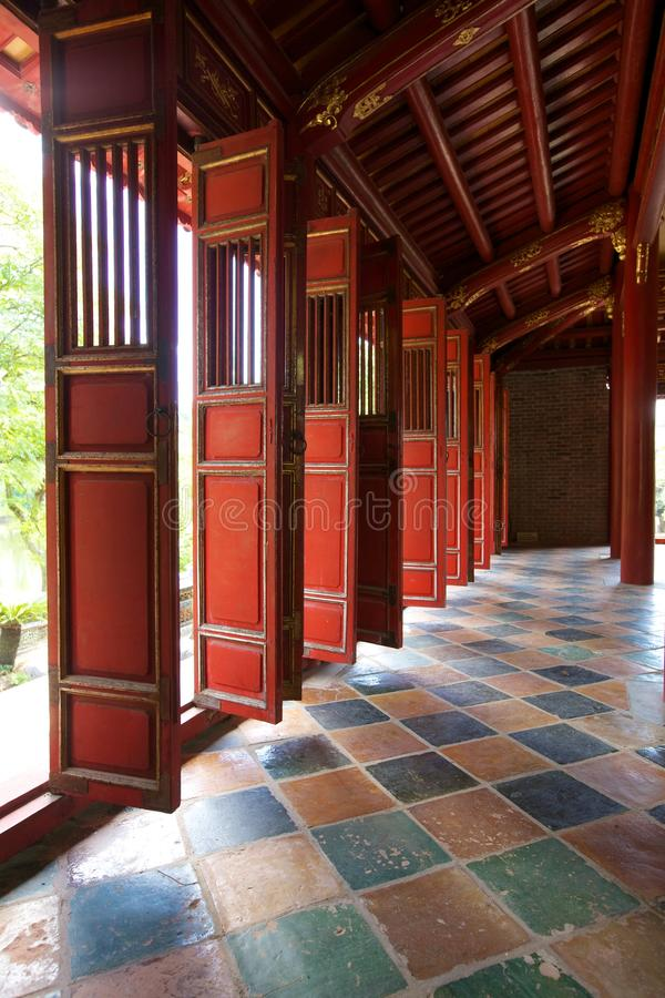 Doors In Forbidden City, Hue, Vietnam Stock Images